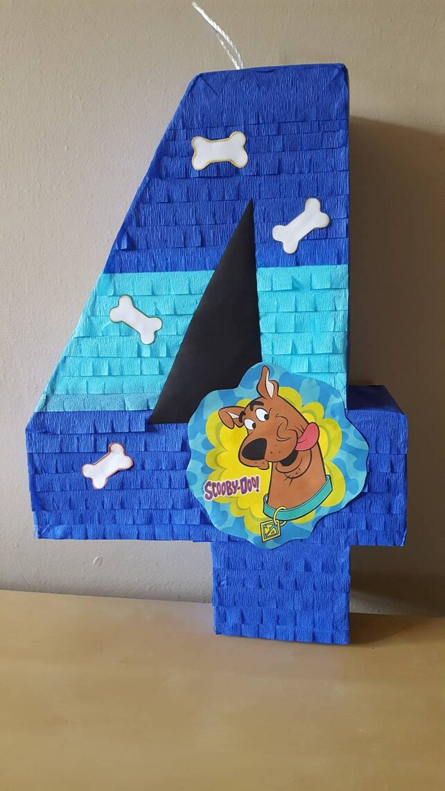 Number pinata inspired by Scooby Doo | Etsy