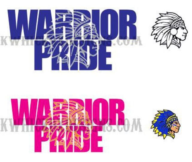Indian Warrior Pride Knockout Font Svg Vector Dxf Scal Etsy