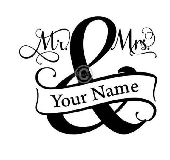 Mr And Mrs Split Monogram Svg Split Monogram Svg Mr And