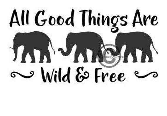Download Elephant Svg Elephants Dxf Wild And Free Svg 3 Elephants ...
