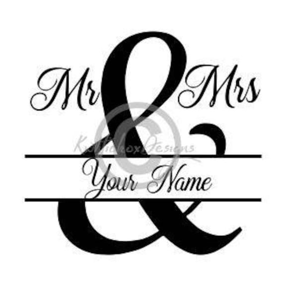 Mr And Mrs Split Svg, Split Monogram Svg, Split Monogram Dxf, Eps File, Mr  Mrs Clipart