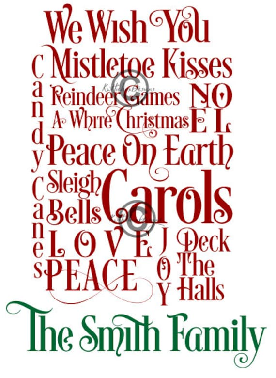 Christmas Subway Art Svg.Christmas Subway Art Svg Dxf Eps Png Files Family Name Svg Smith Svg