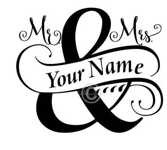 Split Monogram Svg Wedding Svg Mr And Mrs Svg Split Mr
