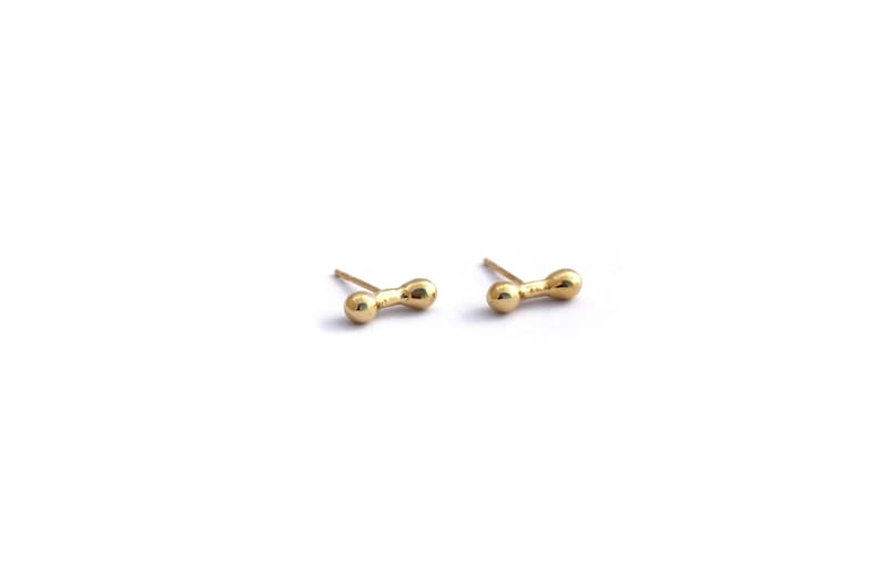 14K Post Earrings Minimalist Gold Studs Gold Bone Earrings Solid Gold Stud Earrings 18K Gold Studs 14K Delicate Gold Studs