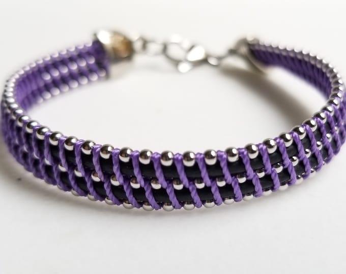 Little Z  Purple  and Black Bracelet