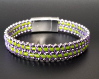 Fermi Citrus and Lavender  Leather Bracelet