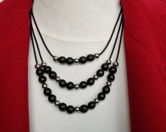 Ebony Bead Necklace