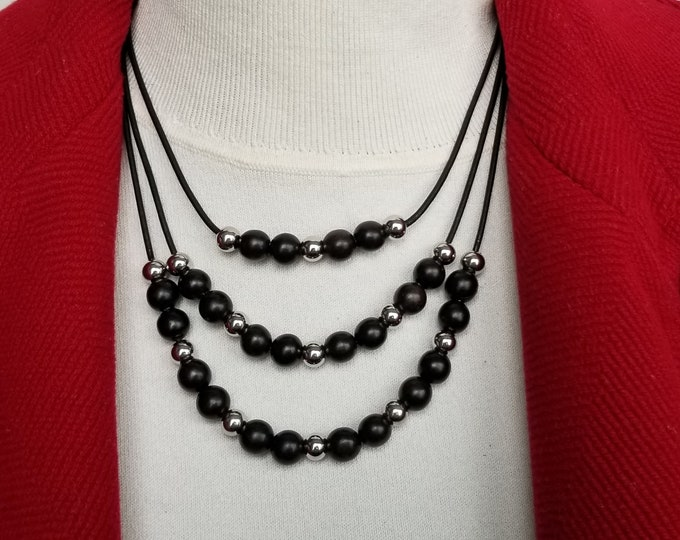 Ebony Bead Necklace