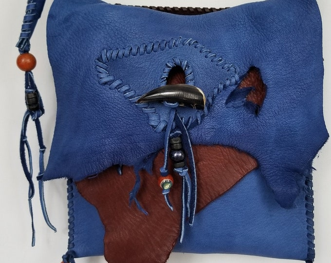 Small Blue Boho Bag