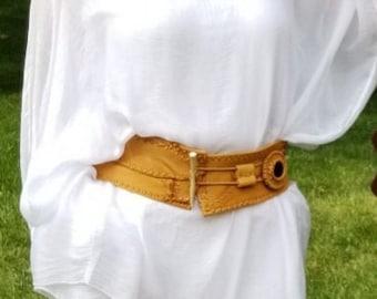 Caramel Nomad Leather Belt