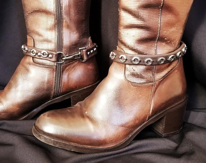 Leather Jewelry for Boots . ( boots not for sale)  Boot Jewelry
