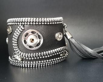 Chris  Steampunk Leather Cuff