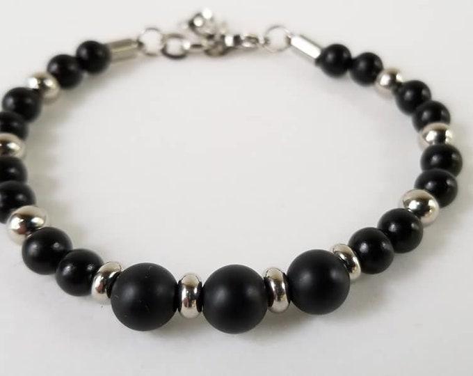 Onyx and Ebony Bracelet