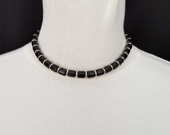 Ebony and Stainless Steel Choker