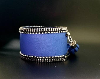 Blue Leather cuff