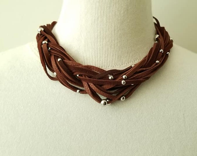 Milk Chocolate Braided Necklace