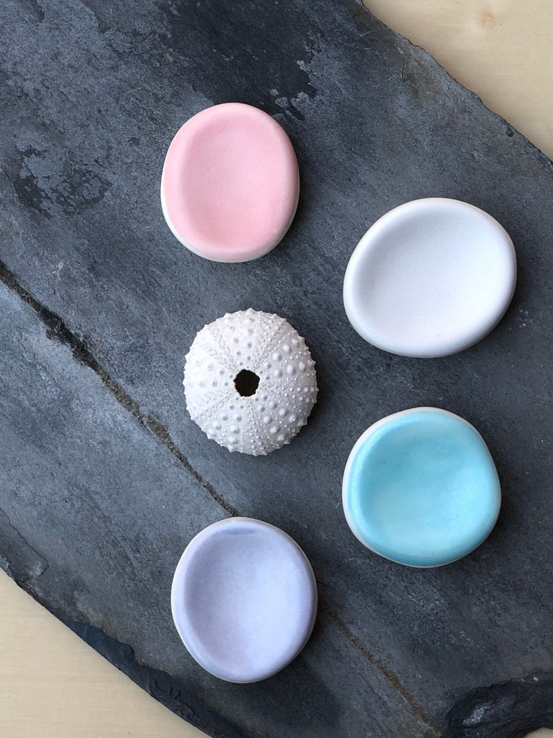Ceramic calming worry stone fidget for stress anxiety relief image 0