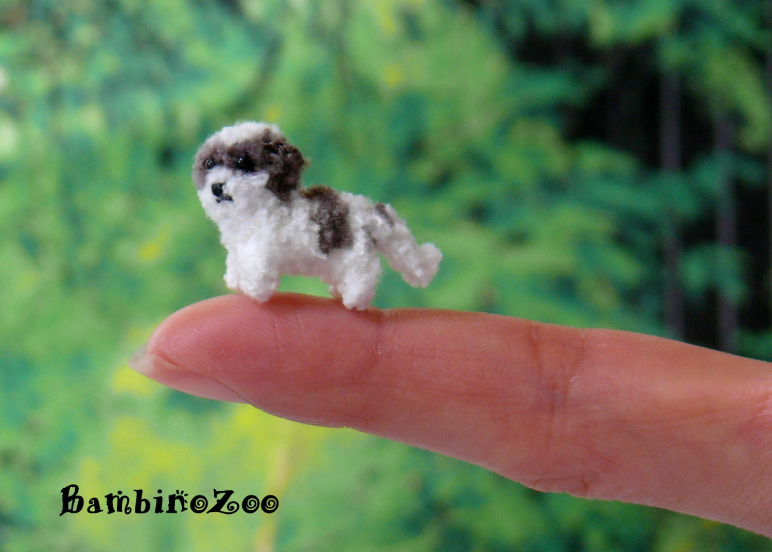 Mini Shih Tzu Dog Puppy Miniature Amigurumi Tiny Crochet Dog Etsy