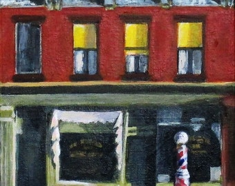 """Study Painting of Sunday Morning by Hopper, on Canvas, 8"""" x 10"""""""