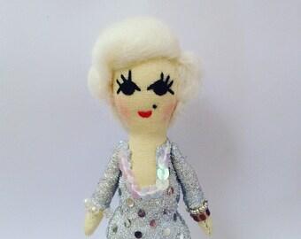 Marilyn Monroe Icon Doll. Mini Doll.