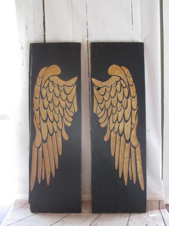 Angel Wings Wood Angel Wings Angel Wing Wall Decor Angel   Etsy