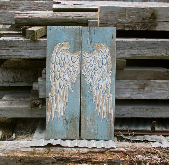 Angel Wings Wood Angel Wings Wing Wall Decor Recycled Wood   Etsy