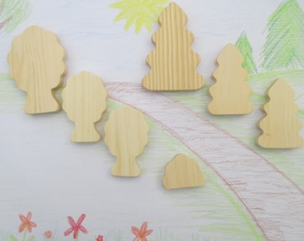Wooden toy trees, Unfinished wooden toys, Birthday gift for kids, Childs toy