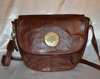 Mulberry vintage real leather brown bag b4019f51f6489