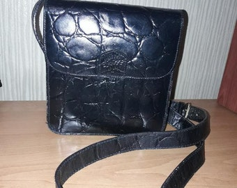 7d9ffef3016 Mulberry vintage real leather black bag
