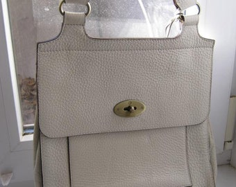 7bb8b927eb8 Mulberry vintage real leather white bag