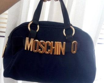 cf9ae12a469f4 Moschino Redwall vintage 90 s navy nylon bag