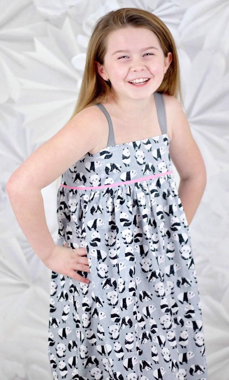 7290399024 Girls Panda Dress Toddler Panda Dress Girls Sundress