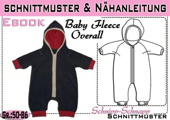 pdf.Schnittmuster Baby Fleece Overall Gr.:50-86 | Etsy