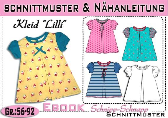 pdf.Schnittmuster Baby Kleid Lilli Gr.:56-92 | Etsy