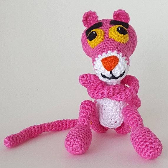 Kostenlose Versandhäkeln Rosa Panther Amigurumi Häkeln Etsy