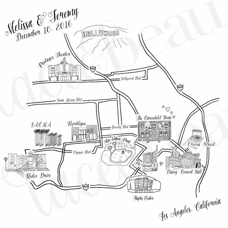 on draw map for wedding invitation