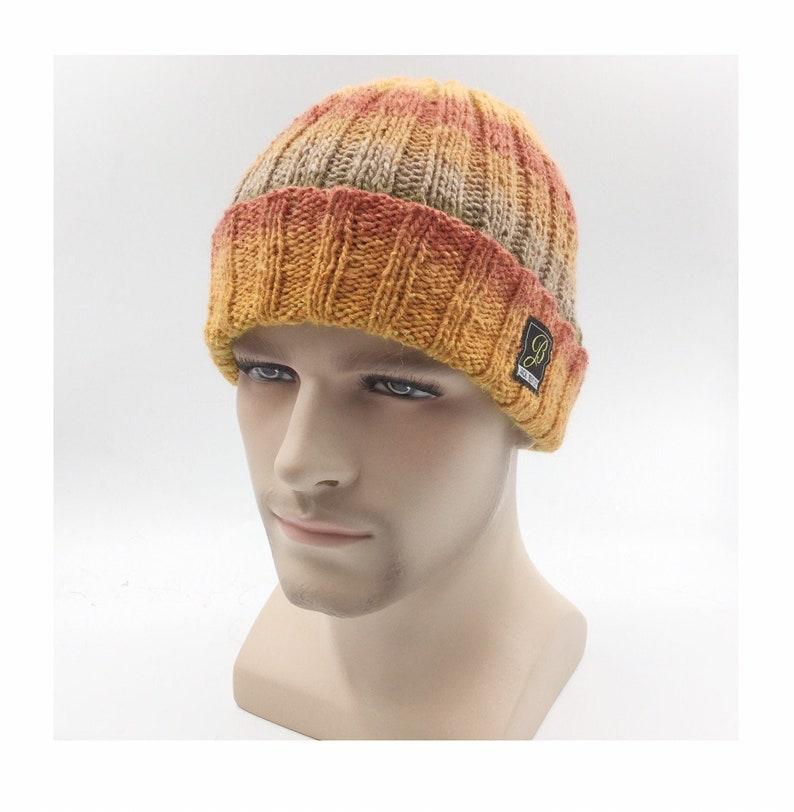 knit beanie Silk mix Seafarer beanie hat men/'s hat handmade beanie skull beanie ladies beanie winter hat ski hat wool hat