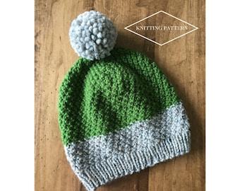Knit Hat Pattern for Adults. Knitting Pattern. Knit Hat Pattern. Knit Hat. Women's Hats. Winter Hats. Knit Pattern.