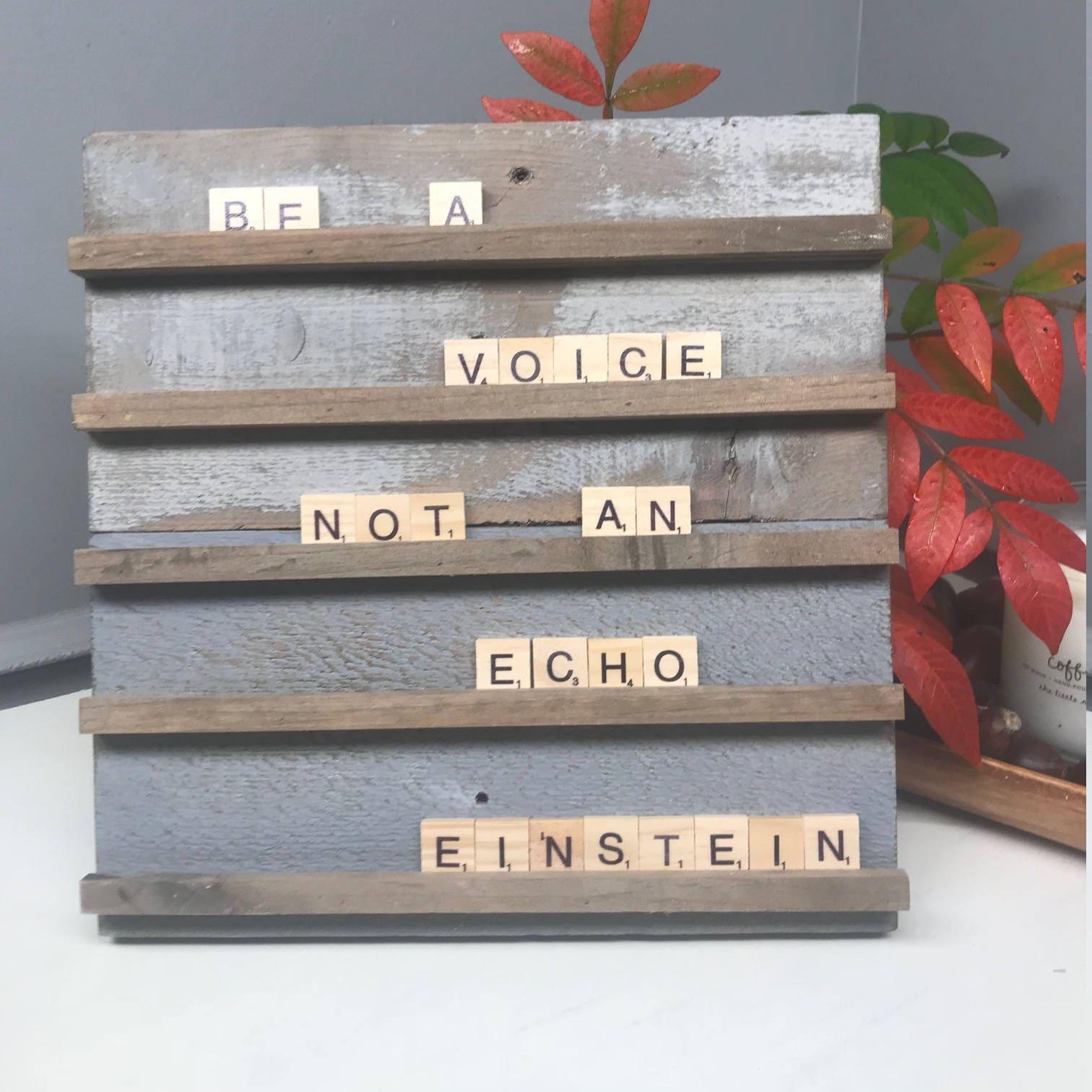 Letter Board 10.5x10.5 Scrabble Letter Board