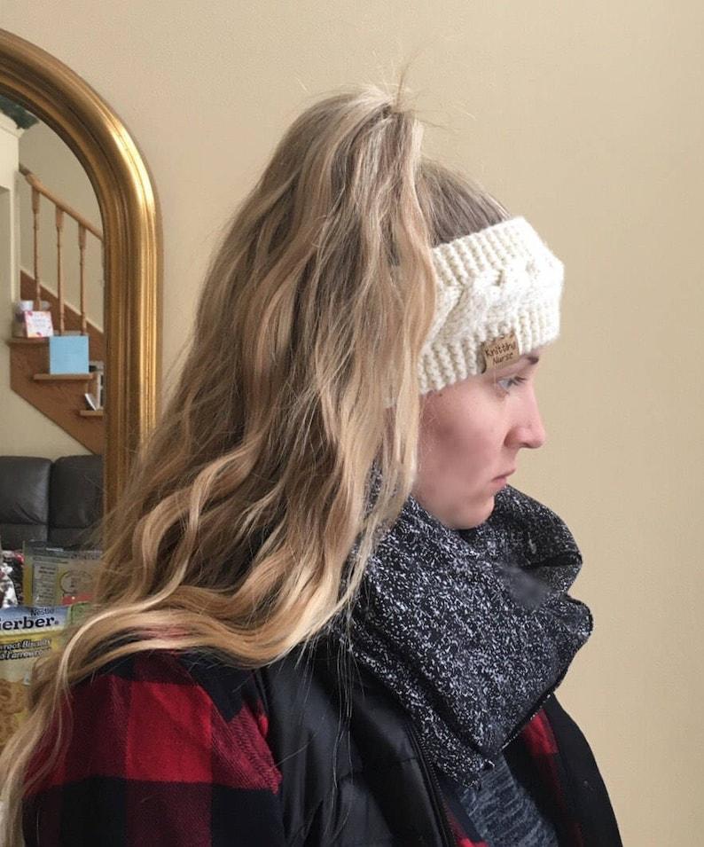 Knitted headband ear warmer