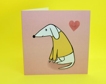 Thank You Puppy (Set of 5) - Cute dog blank greeting card for Valentine's Day