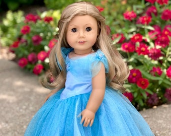 e62ad600cd3 Cinderella - Doll Clothes for 18 Inch Dolls - Disney Blue Gown with Silver  Slippers