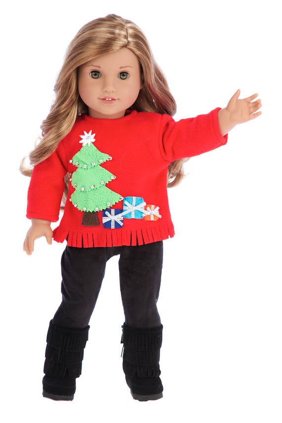 image 0 - Christmas Sweater Doll Clothes For 18 Inch American Girl Etsy
