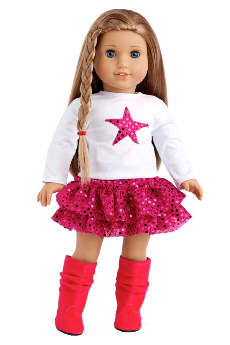 32f12ef5263 Pink Star Doll Clothes for 18 inch American Girl Doll