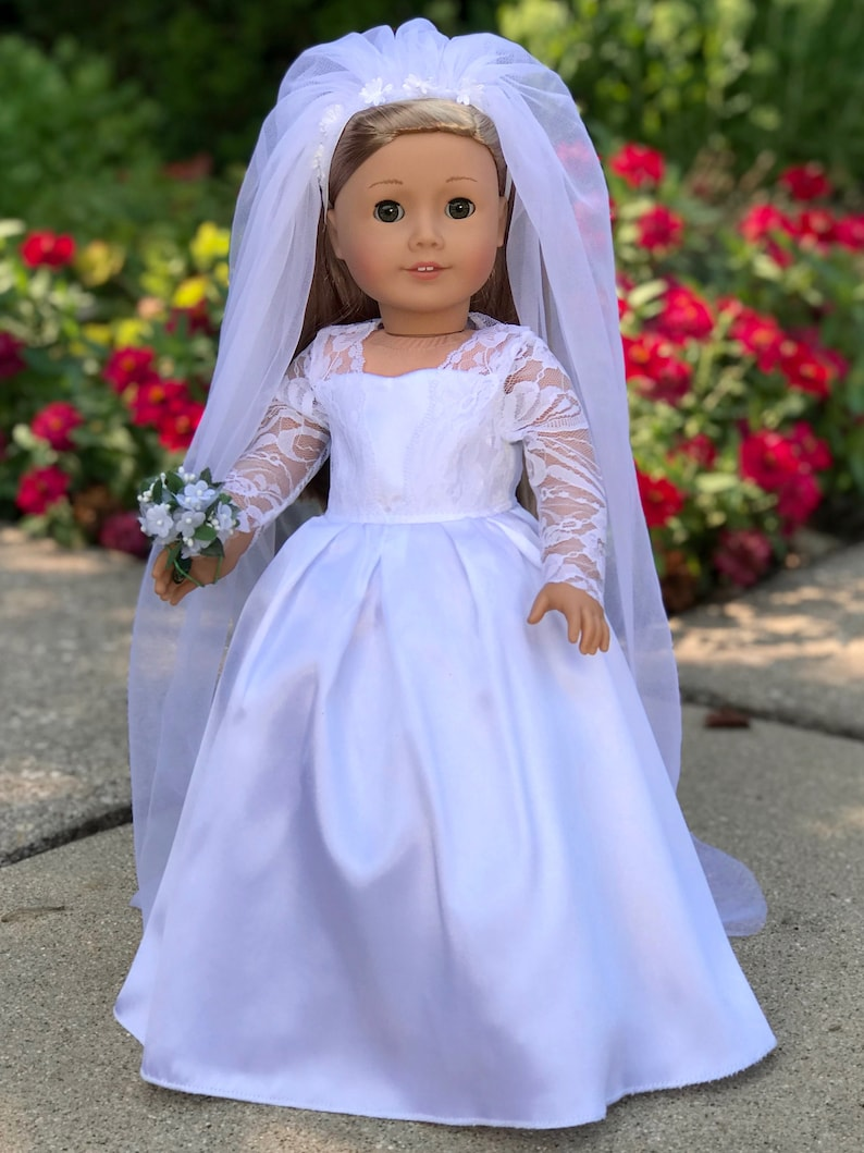 Princess Kate Wedding Dress.Princess Kate Doll Clothes For 18 Inch Dolls Royal Wedding Dress With White Shoes Bouquet And Tulle Veil