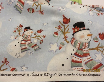 Snowmen-Priced Per 1/2 Yd-Free Shipping
