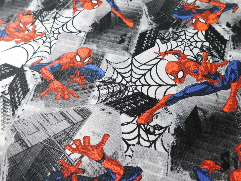 100/% Cotton Fabric Springs Creative Marvel The Amazing Spiderman Spider-Man