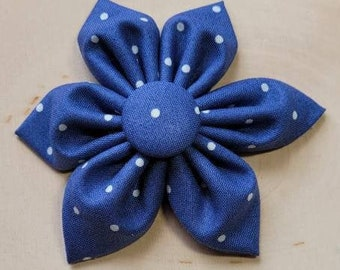 Purple polka dot Dog Collar flower, floral, Vintage Dog Collar Flower, flower for dog collar attachment,