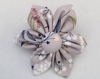 Gray Floral Dog Collar flower, floral, Vintage Dog Collar Flower, flower for dog collar attachment,