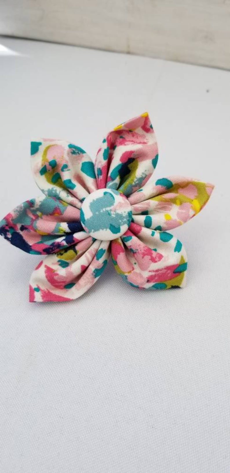 Lilly inspired Dog Collar flower floral Vintage Dog Collar image 0
